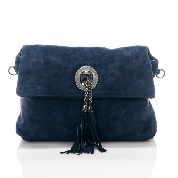 Titiana Genuine Suede Leather Bag - BLUE