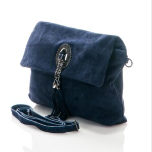 Titiana Genuine Suede Leather Bag - BLUE