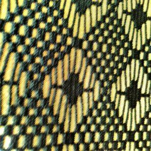 Black Laminated Platinum Fabric