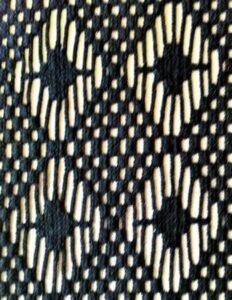 Black Laminated Silver Fabric