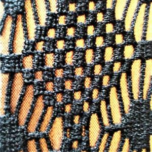 Black Laminated Copper Fabric
